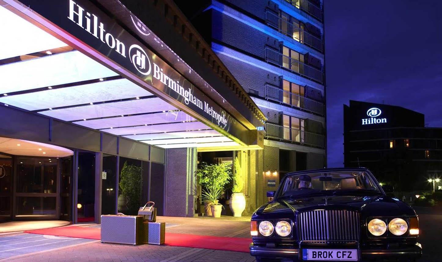 Front of the Hilton Birmingham Metropole